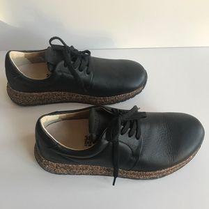 Birkenstock Wrigley Black Leather Cork Sneakers